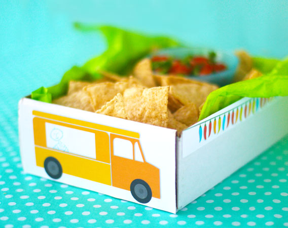 Kids Taco Lunch Truck Box