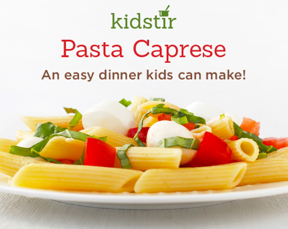 Easy italian pasta caprese kids can make for Easy things to make for dinner for two