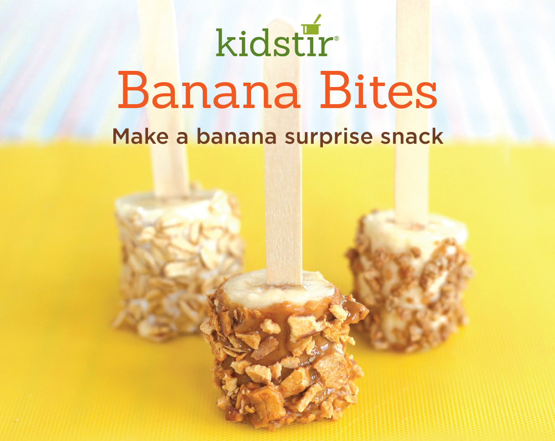 Banana bites on a stick kid snacks for Fun halloween treats to make with toddlers