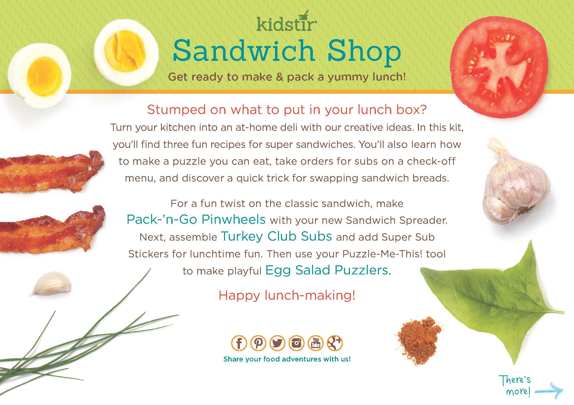 Sandwich Shop Kit | Kidstir