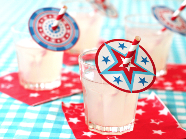 Kids Patriotic Drink Straws