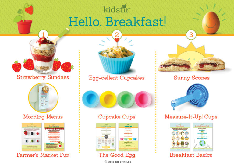 Kids Hello breakfast cooking kit