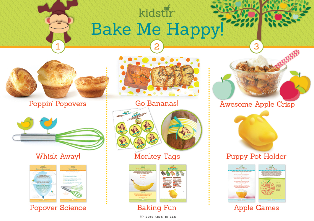 Kids September bake me happy baking kit