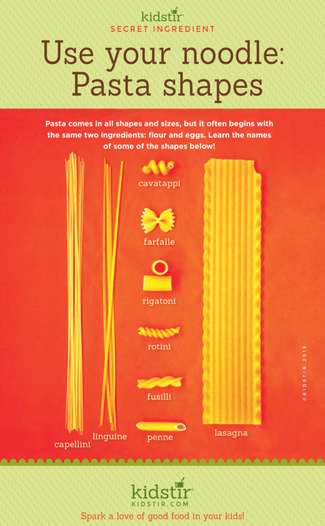 Pasta Noodle Shapes Infographic