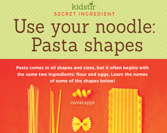 Pasta Shapes for Kids