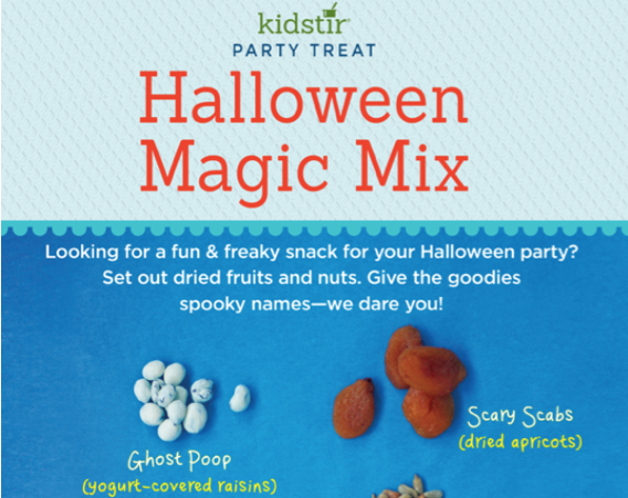 halloween spooky magic mix snacks