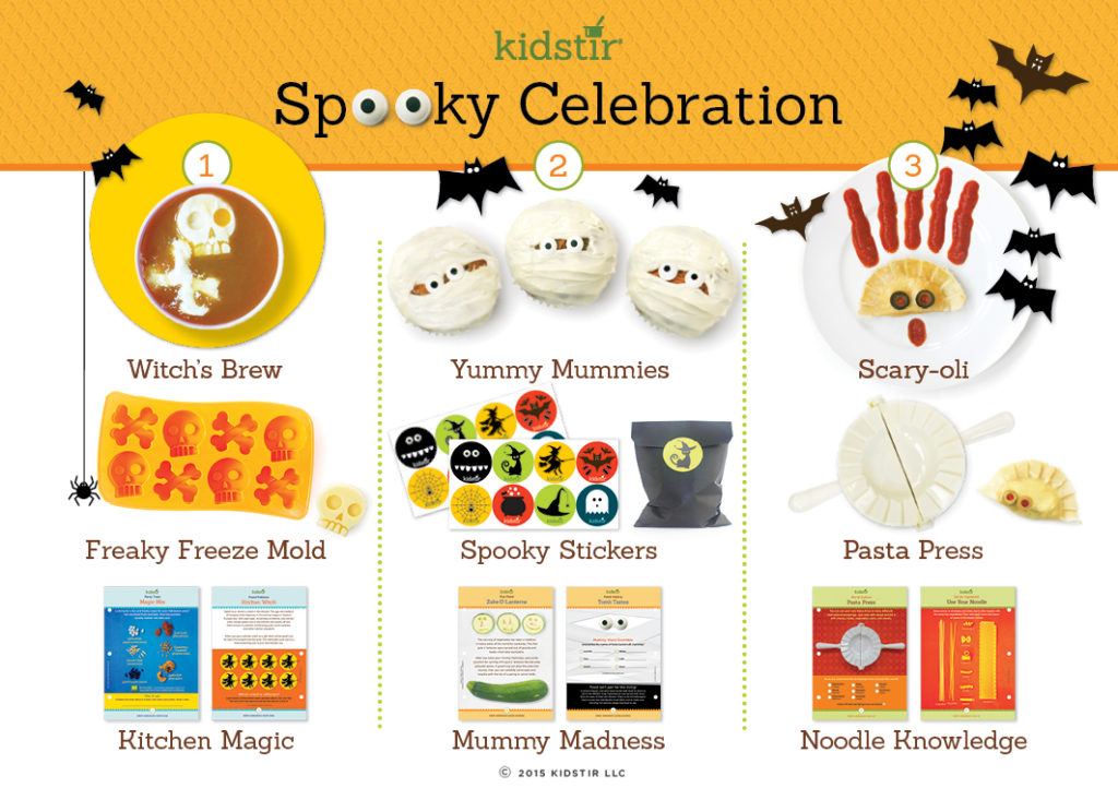 October Kids Halloween spooky Celebration cooking kit