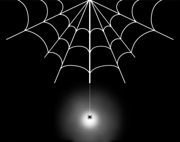 Spider web halloween hunt
