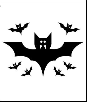 halloween pumpkin carving pattern template bats