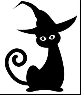 halloween pumpkin carving pattern template black cat