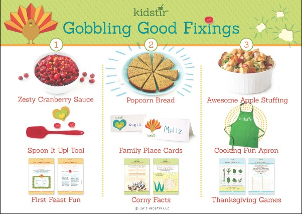 Kids Thanksgiving cooking kits