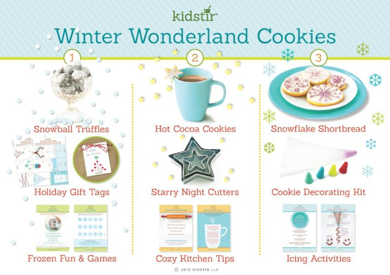 December Kids winter wonderland cookie baking kit