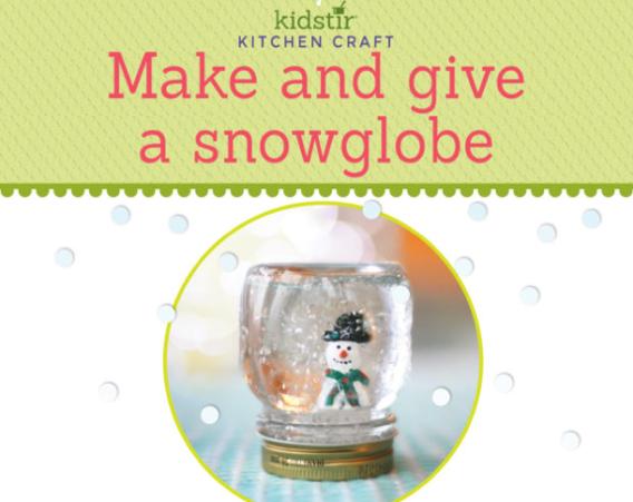 Make snow globe kids