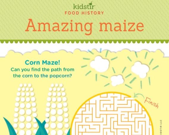 popcorn history maize maze