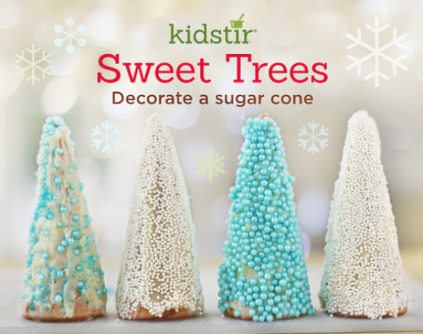 Sweet trees sugar cones kids