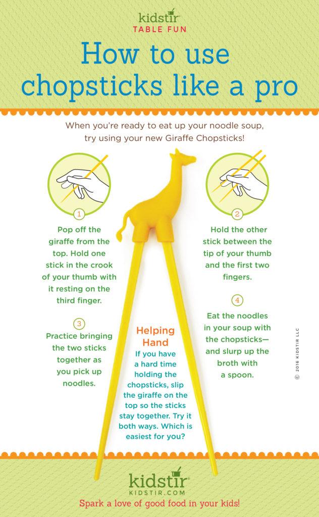 Kids Use Chopsticks Infographic