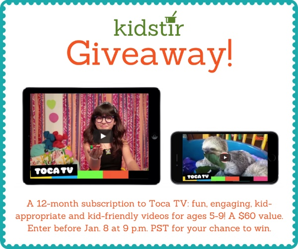 Toca TV kid-friendly video giveaway