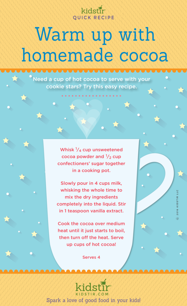 Hot cocoa recipe infographic