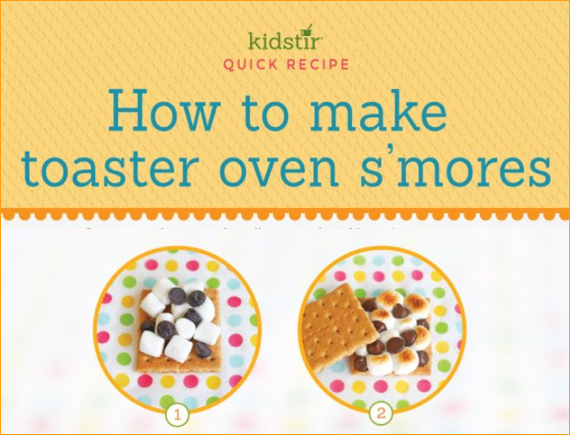 Toaster Oven Smores for Kids