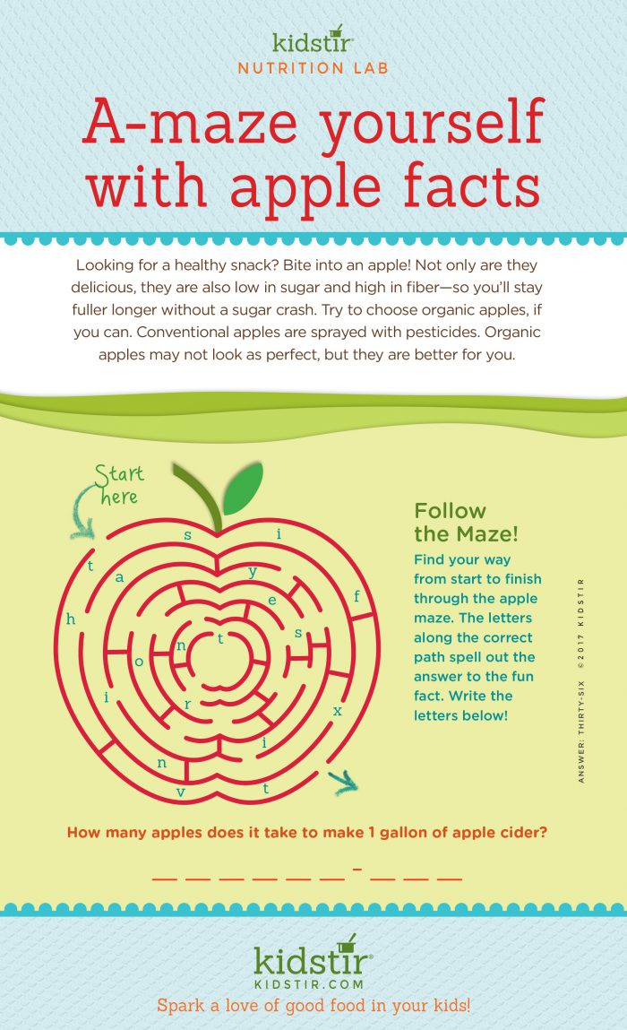 Apple Facts for Kids Infographic