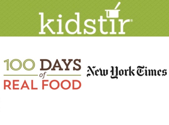 Kidstir, 100 Days of Real Food, New York Times